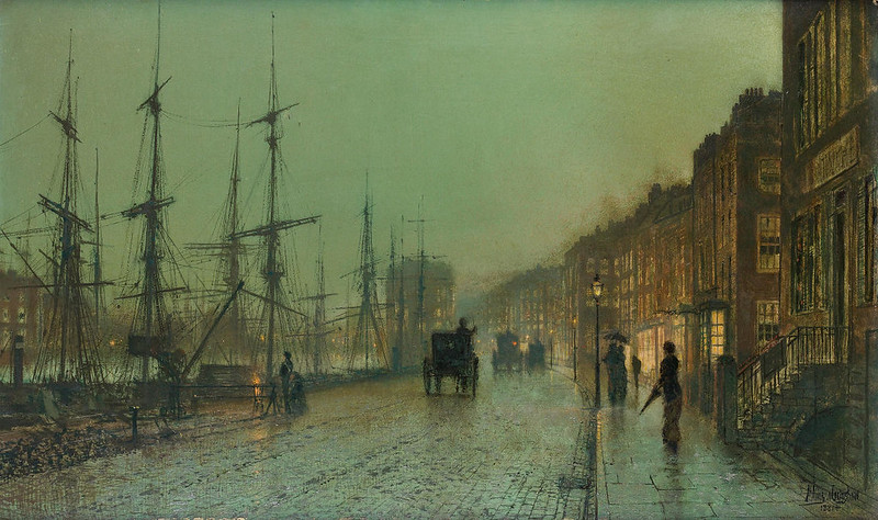 Glasgow Docks by John Atkinson Grimshaw, 1881