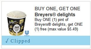 Breyer's Ice Cream Coupon