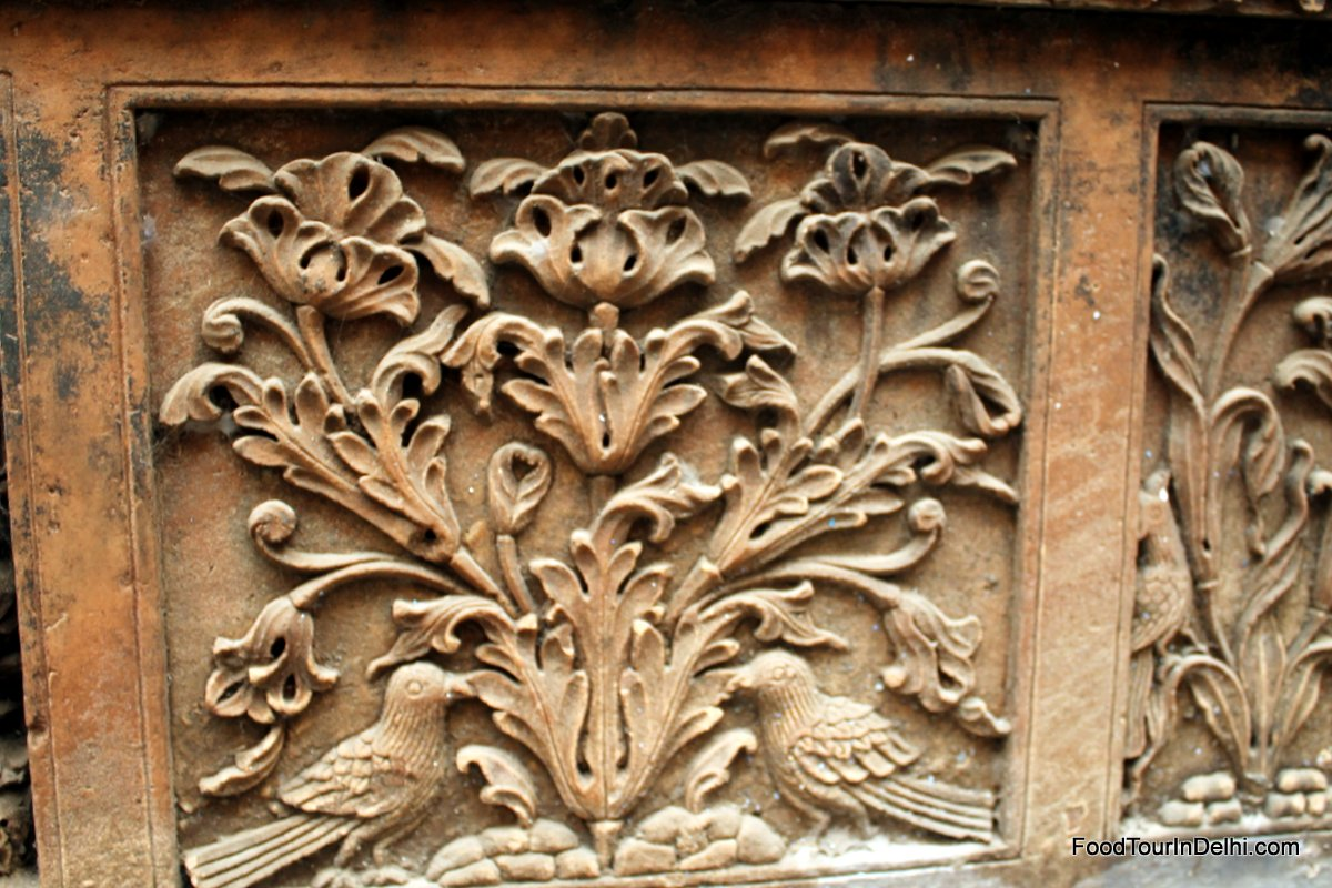 Carvings on a old house in Old Delhi