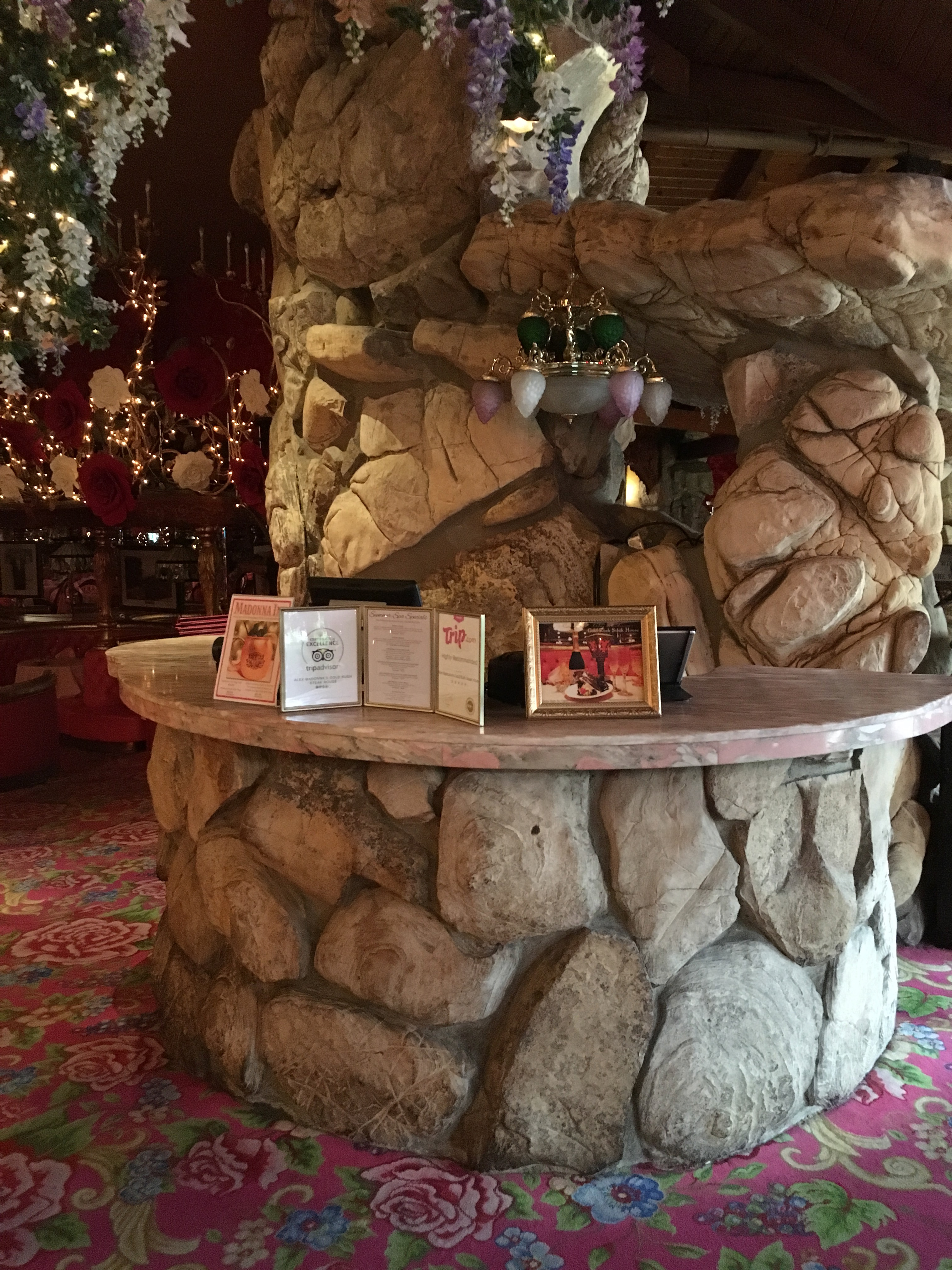 Madonna Inn - stone desk