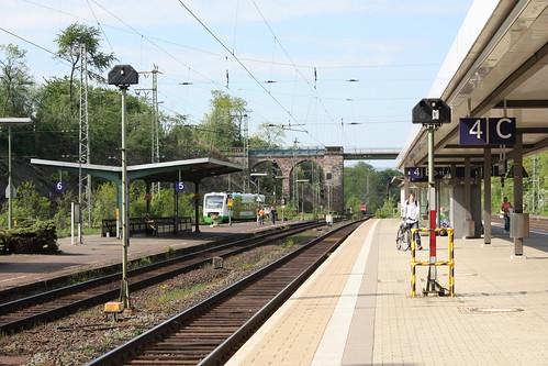 Bahnsteige in Eichenberg