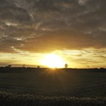 2017:10:25 17:48:05 - Sonne - Wolken - Feld - Tarbek