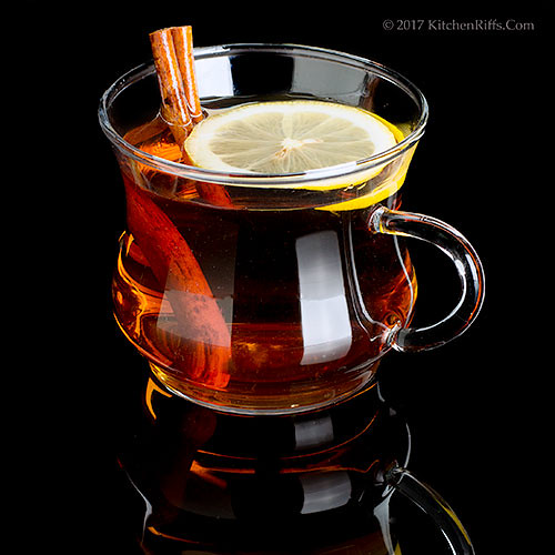 Spiced Hot Apple Cider with Rum