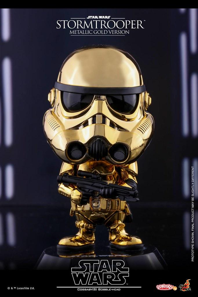 這麼閃亮的士兵在戰場上很容易被發現吧~Hot Toys - COSB421-423 星際大戰【帝國風暴兵(金屬電鍍版)】Star Wars Stormtrooper (Metallic Color Version) Cosbaby Series