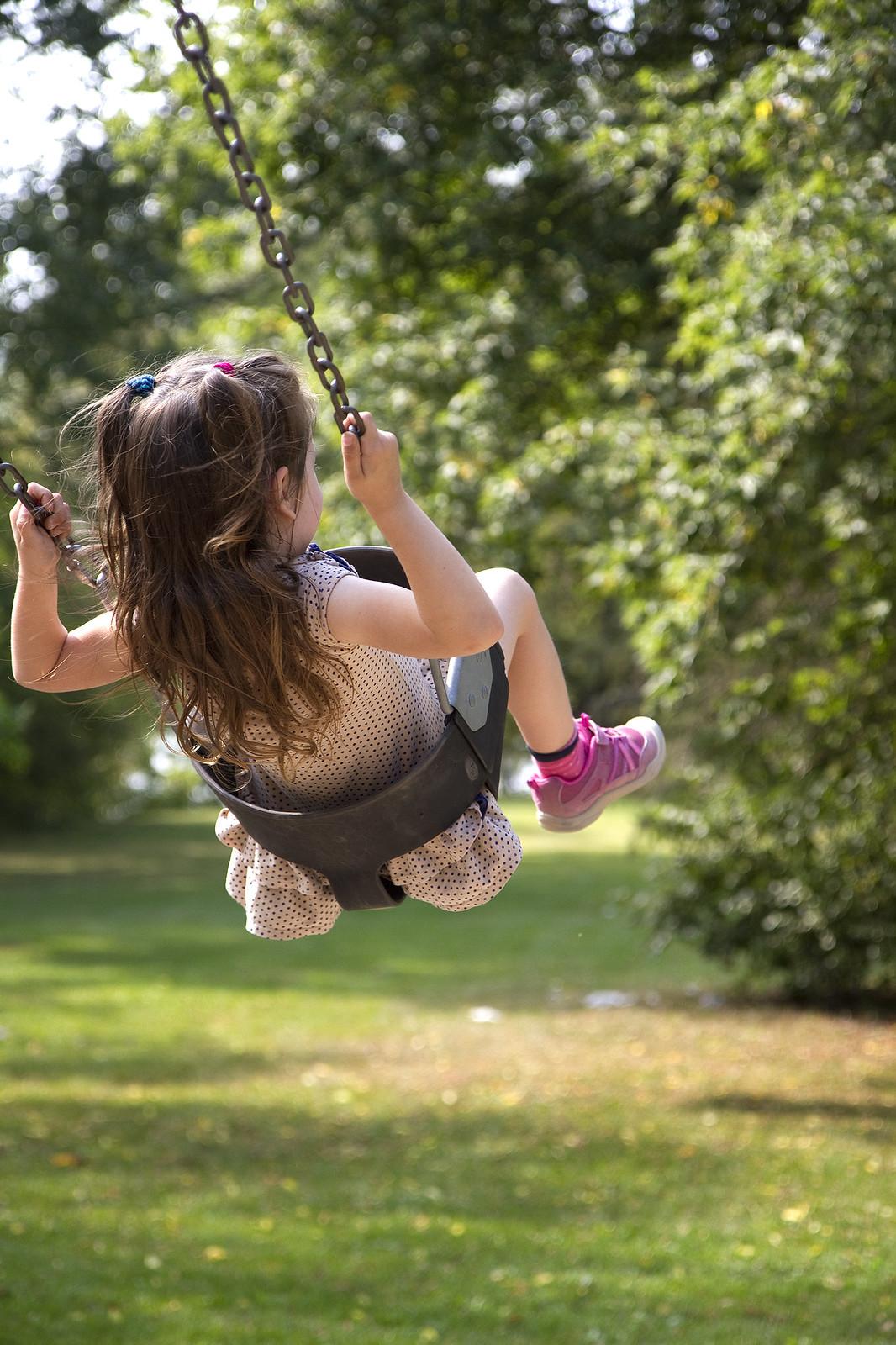 cutie on a swing