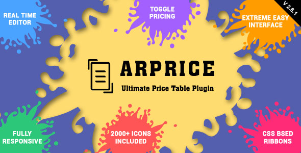 ARPrice v2.6.1 – Ultimate Compare Pricing table plugin