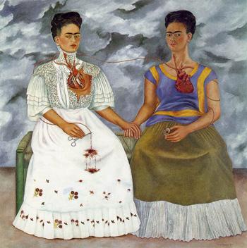 Las dos Fridas (1939), Frida Kahlo