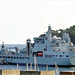 RFA Tidespring leaving HMNB Plymouth