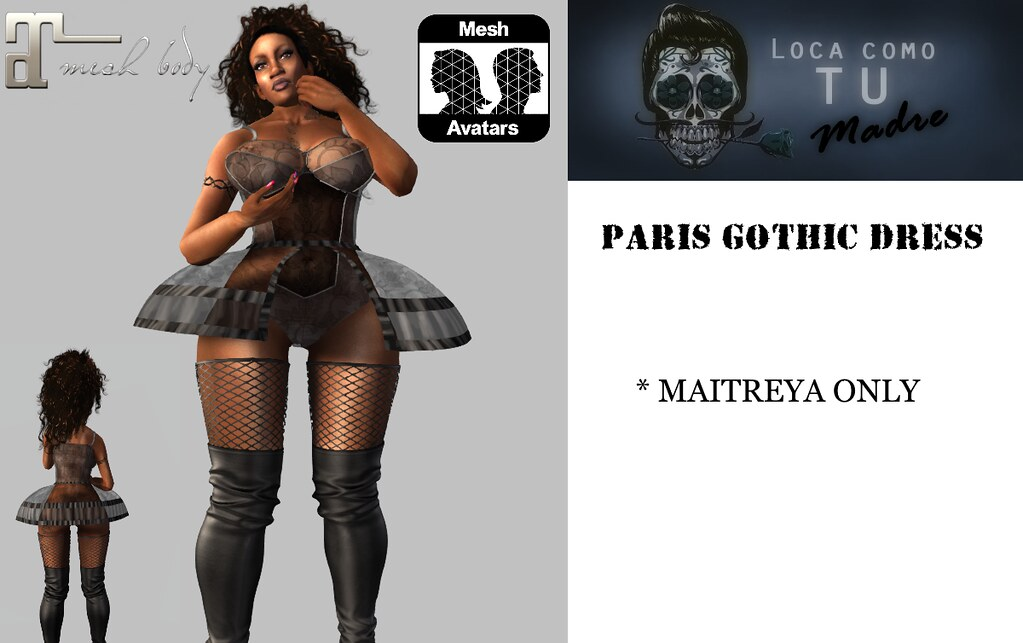 PARIS GOTHIC DRESS - MAITREYA - TeleportHub.com Live!