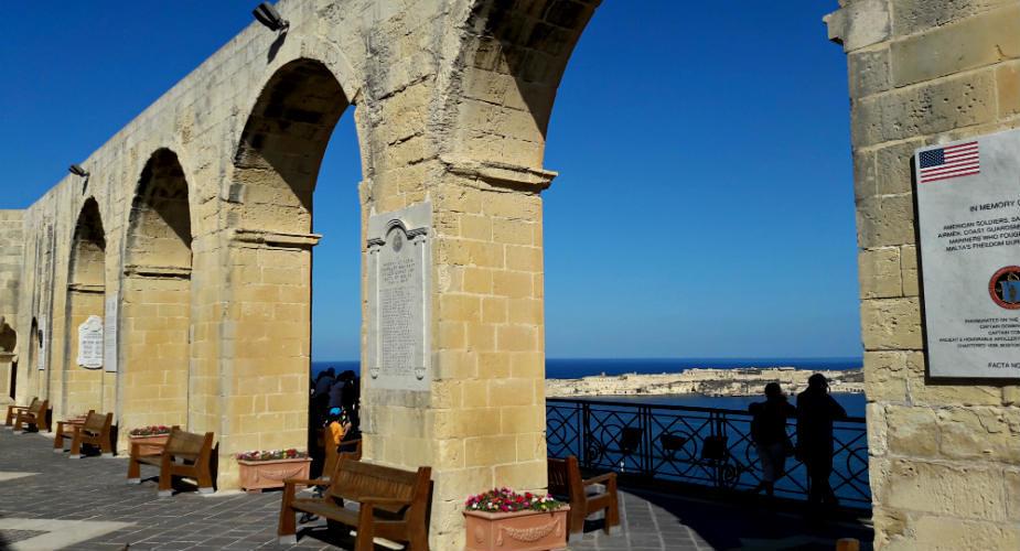 Bezienswaardigheden Valletta, Malta: Barrakka tuinen | Mooistestedentrips.nl