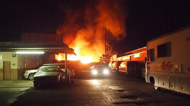 QA170001 Fire next to Pepes Krebs Automotive