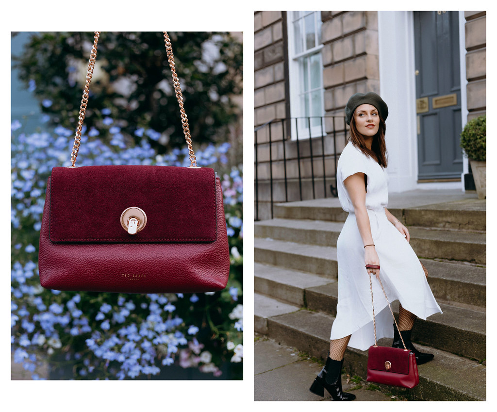 The Little Magpie Ted Baker Burgundy Bag