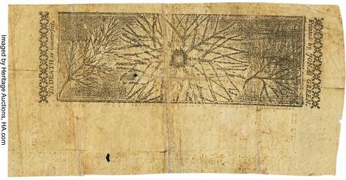 Maryland July 14, 1756 20 Shillings back2