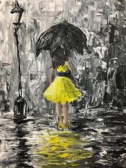 yellow abstract woman