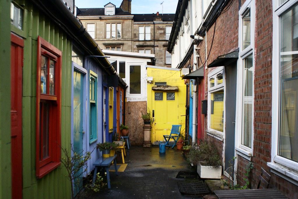Hidden Lane dans le quartier de Finnieston, Glasgow.