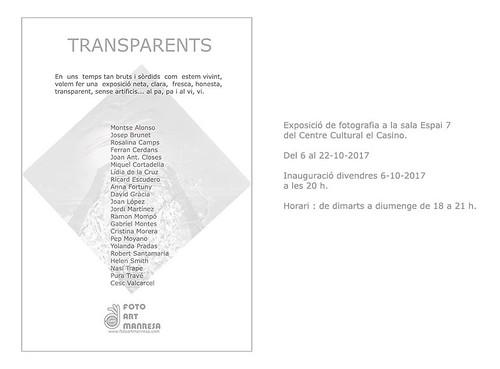 Invitació TRANSPARENTS; Tocats de Lletra 2017