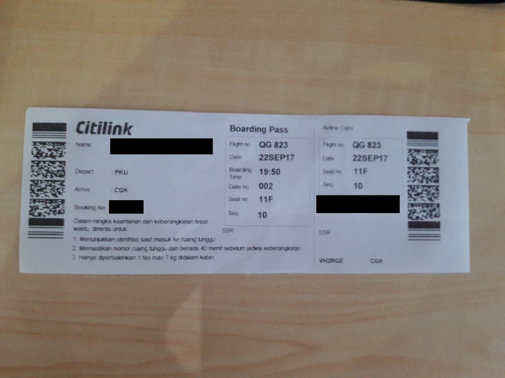 Review Of Citilink Indonesia Flight From Pekanbaru Sumatra Island To