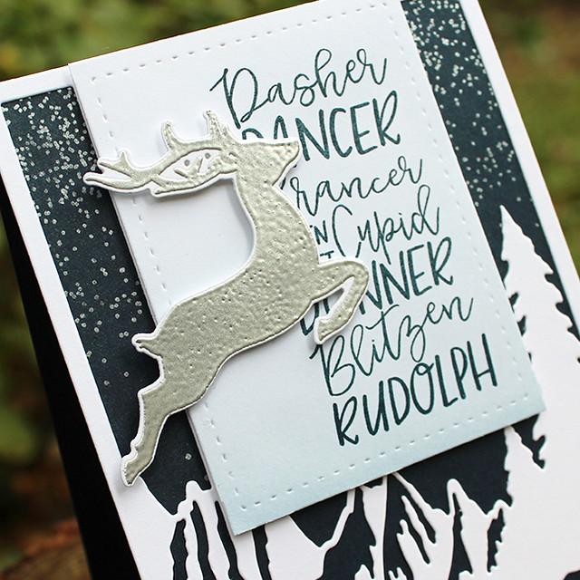Silver Reindeer Card 2