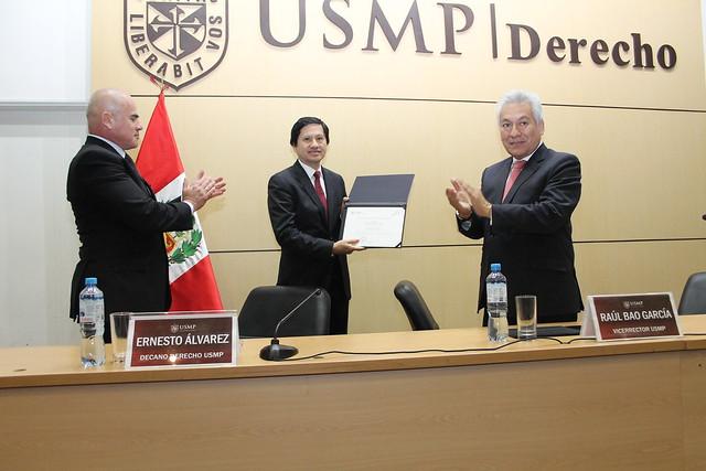 """Conferencia """"Tutela jurisdiccional efectiva, proceso y tecnología"""" del Dr. Rolando Alfonzo Martel Chang, Presidente de la Corte Superior de Justicia de Lima inauguró actividades de la Semana de Derecho USMP 2017"""