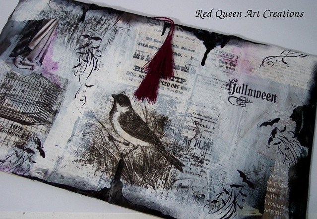 hallowwen art journal pages 8