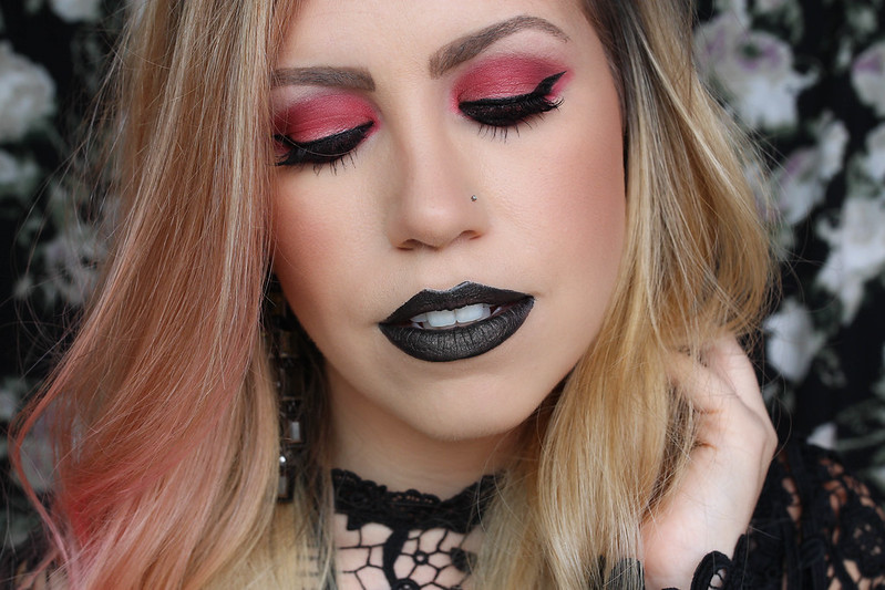 elf cosmetics Black Lipstick Urban Decay Vice Liquid Lipstick in Studded BH Cosmetics Red Eyeshadow