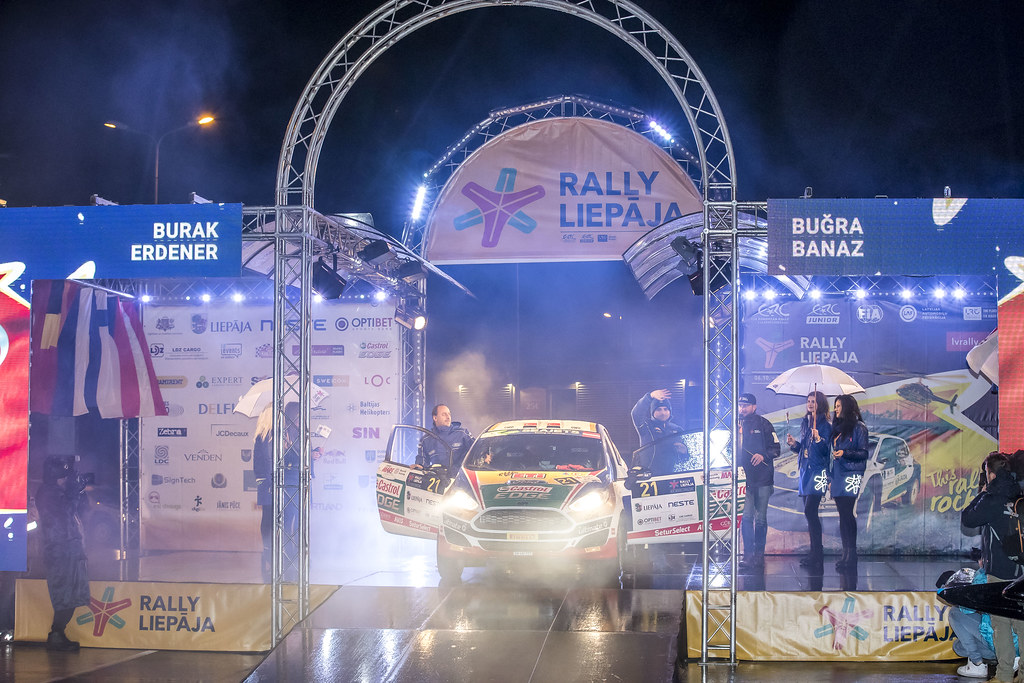 21 Banaz Bugra and Erdener Burak, Castrol Ford Team Türkiye, Ford Fiesta R2T ERC Junior U27 action during the 2017 European Rally Championship ERC Liepaja rally,  from october 6 to 8, at Liepaja, Lettonie - Photo Gregory Lenormand / DPPI