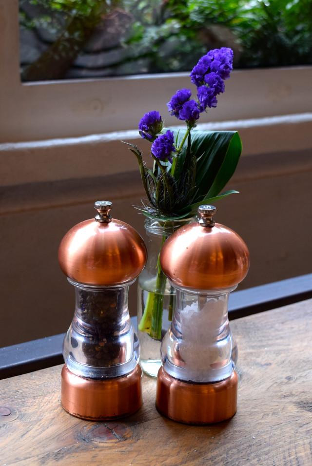 Salt & Pepper Grinders at Evelyn's, Manchester | www.rachelphipps.com @rachelphipps