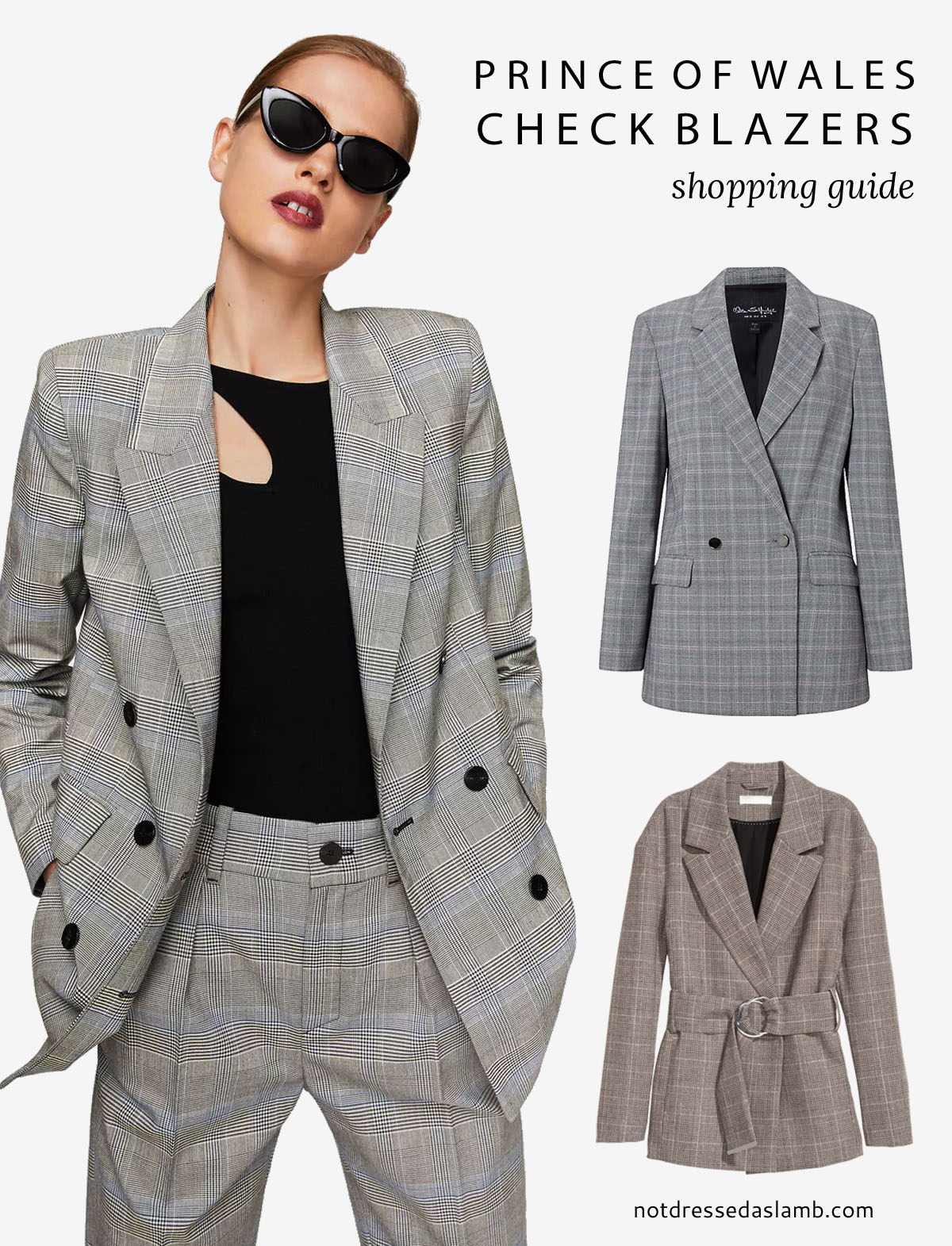 3 must-have pieces to shop this autumn/fall/winter: White boots Prince of Wales check plaid blazers velvet - AW17 trends | Not Dressed As Lamb