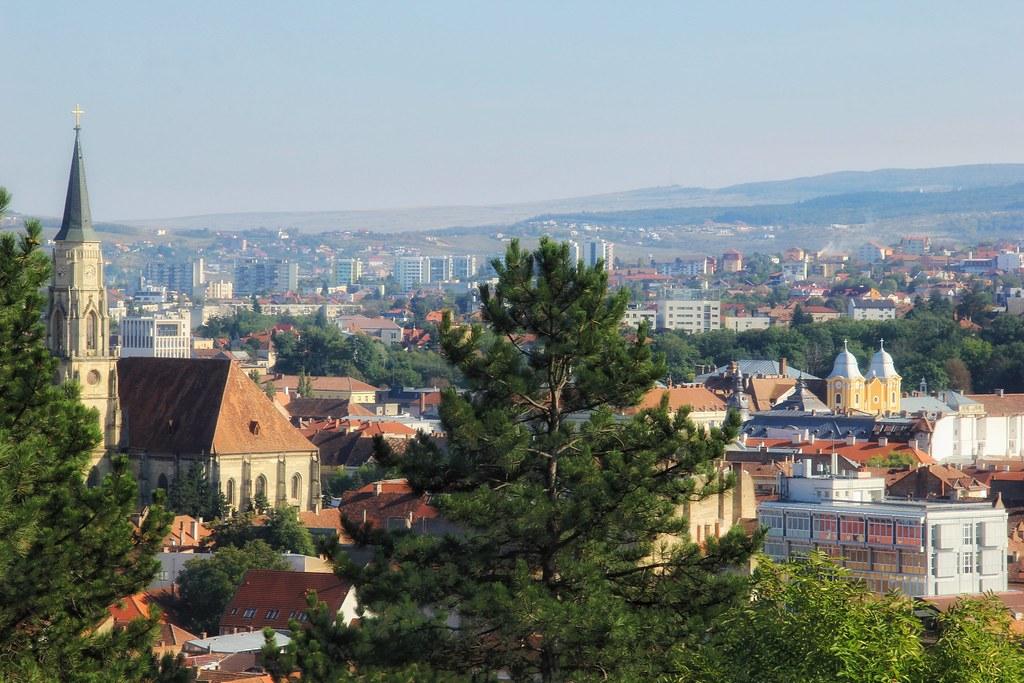 Cluj Napoca viewed from Panoramic Cetatuie