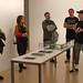 Joan Morey presentant la seva videocreació guardonada amb el Premi Videocreació 2017, Cos Social, a ACVic. Foto: ACVic Centre d'Arts Contemporànies.