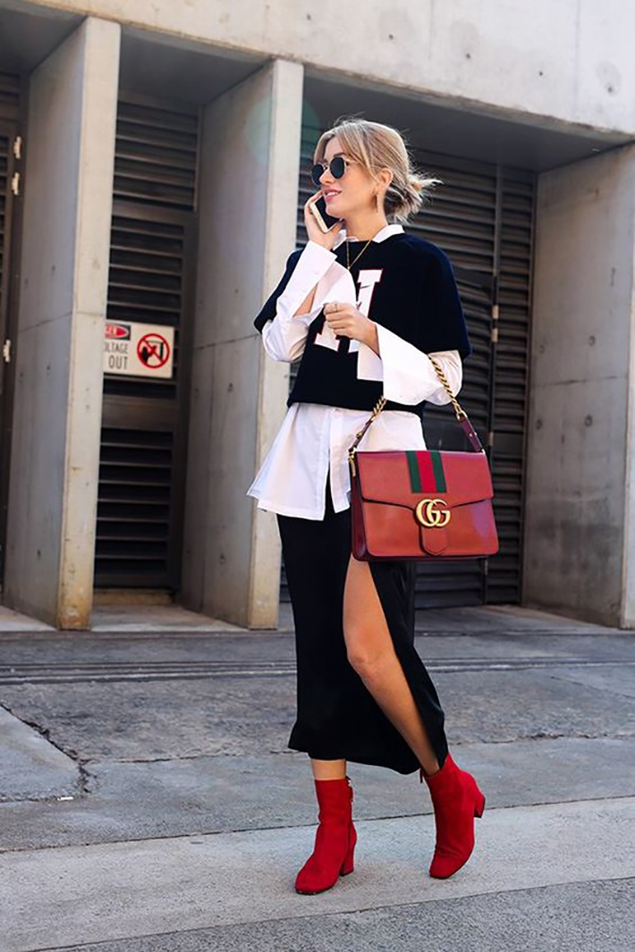 red ankle boots autumn outfits street style trend style outfit 2017 accessories denim5