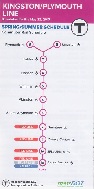 Kingston Plymouth Line 2017