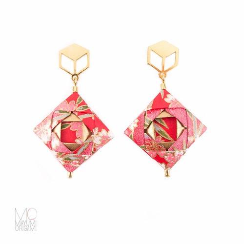 Mosaic Origami Earrings - Mayumi Origami