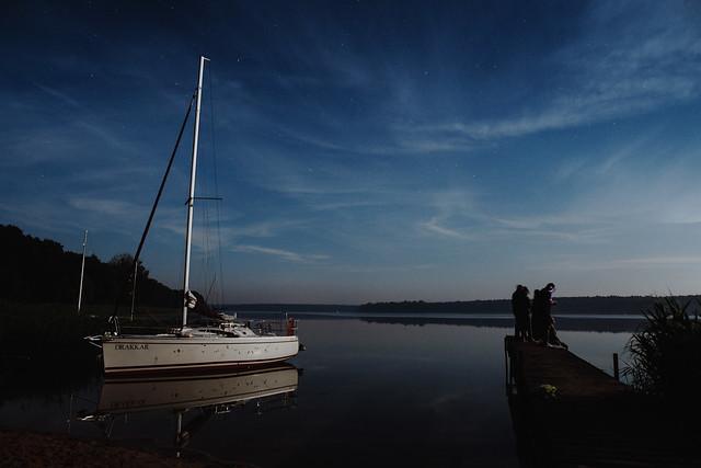 Night at Jezioro Powidzkie.