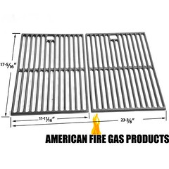 2-PACK-CAST-IRON-COOKING-GRID-FOR-SURE-HEAT-KALAMAZOO-KENMORE-NEXGRILL-WEBER-GAS-MODELS
