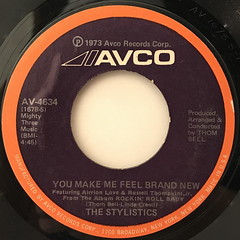 THE STYLISTICS:YOU MAKE ME FEEL BRAND NEW(LABEL SIDE-A)