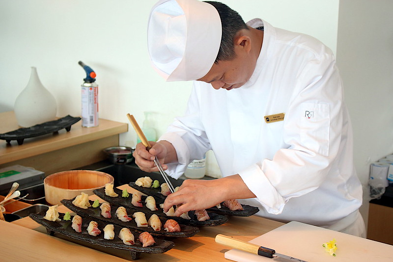 Chef at NAMI making sushi