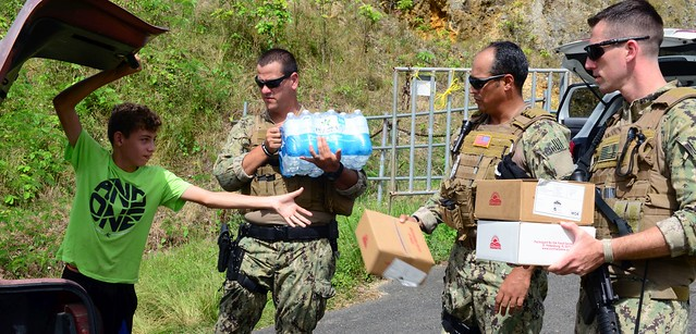 Coast Guard port security units deliver food, water to Isabela, Puerto Rico