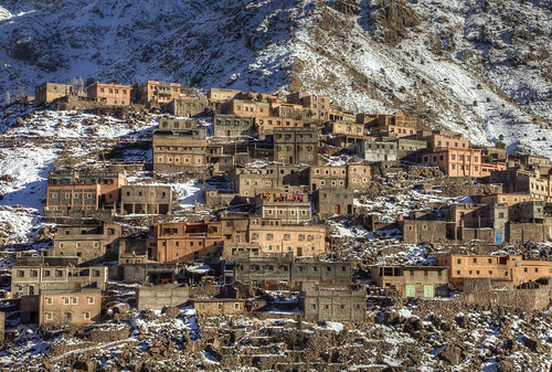 landscape village atlas mountains mountainside mountain morocco africa scenic beauty landschaft marokko snow canon canon5d eos imlil toubkah