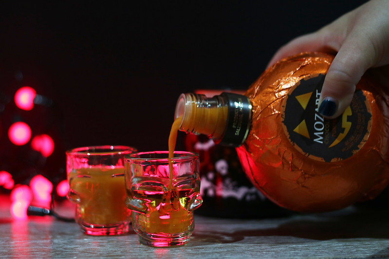Pumpkin Spice Fireball Shots Halloween