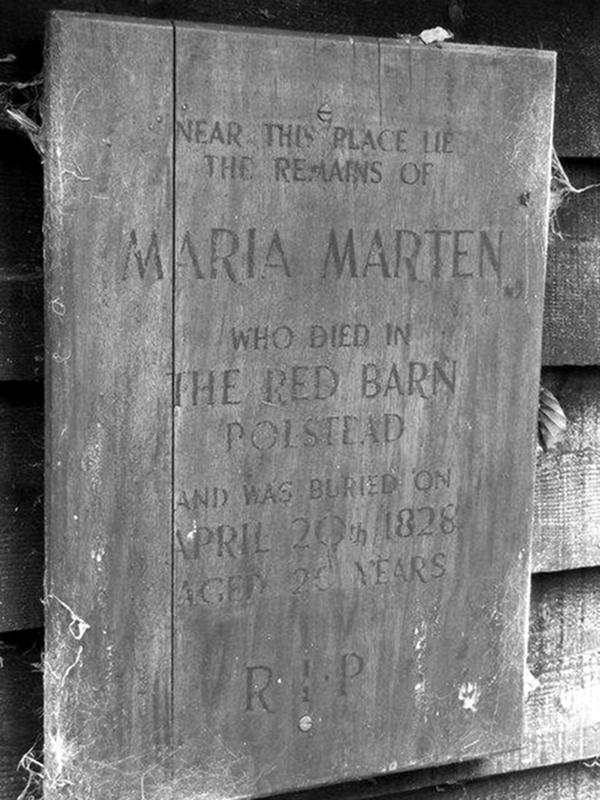 Memorial to Maria Marten in St Marys church yard Polstead, Suffolk. Credit Keith Evans