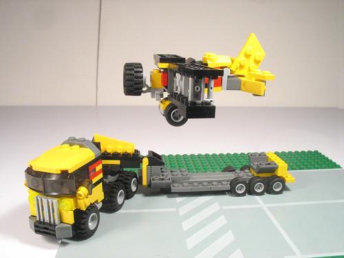 Folding wing bi-plane and transport truck 024