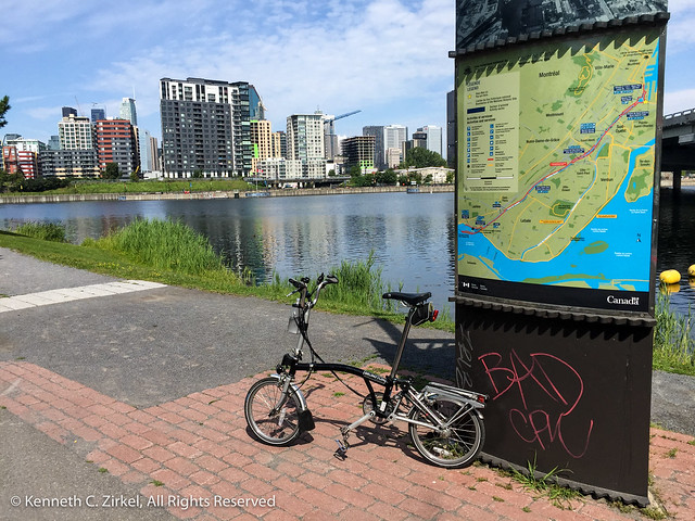 Bicycling the canal in Montreal