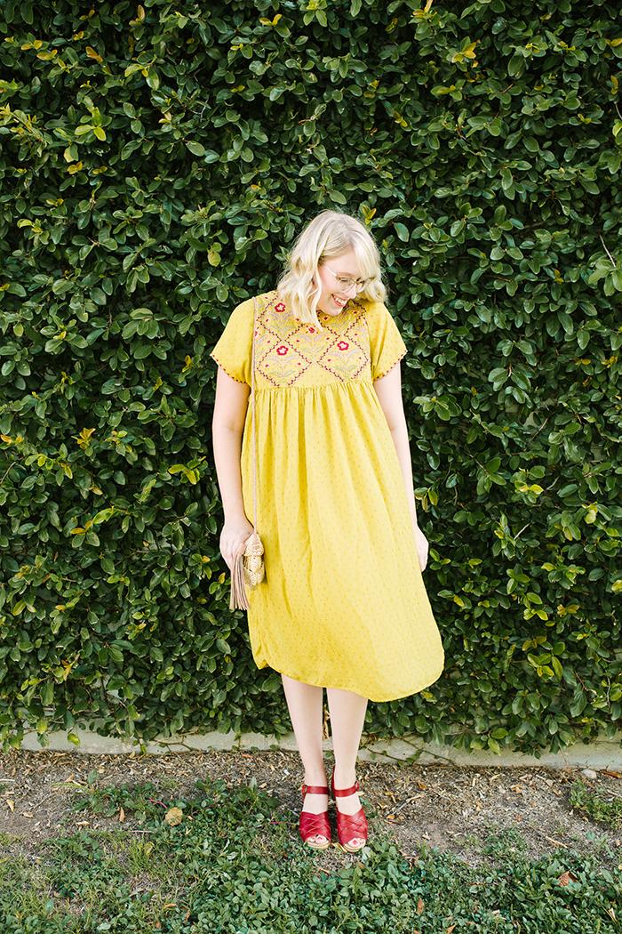austin fashion blogger writes like a girl yellow zara dress1