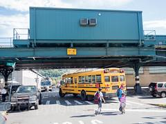 School Bus on West 216th Street, Inwood, New York City