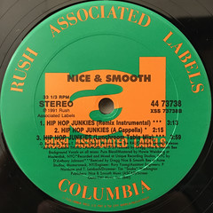 NICE & SMOOTH:HIP HOP JUNKIES(LABEL SIDE-B)