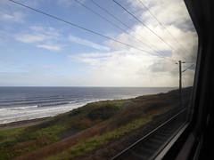 Virgin Trains 225 window view. Spittal (18/10/17)