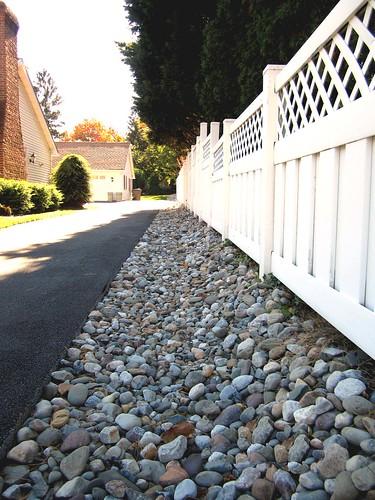 Stone Along Driveway (After)