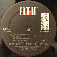 M.C. TEE & LORD TASHEEN:GANGSTER NINE(LABEL SIDE-B)