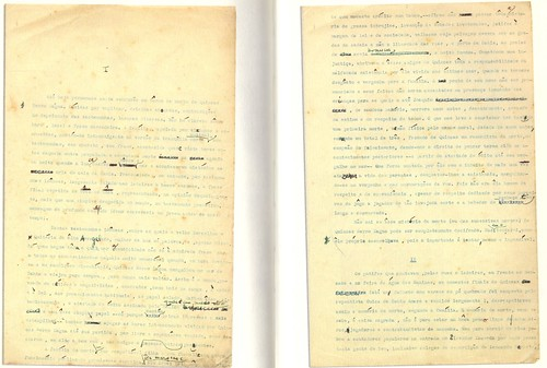 Fac-símile das duas primeiras páginas de A morte e a morte de Quincas Berro Dágua
